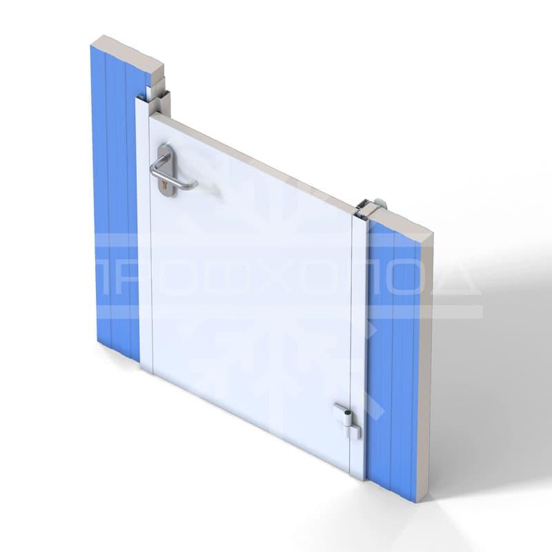 Крепление технологической двери ТДО на сэндвич-панель