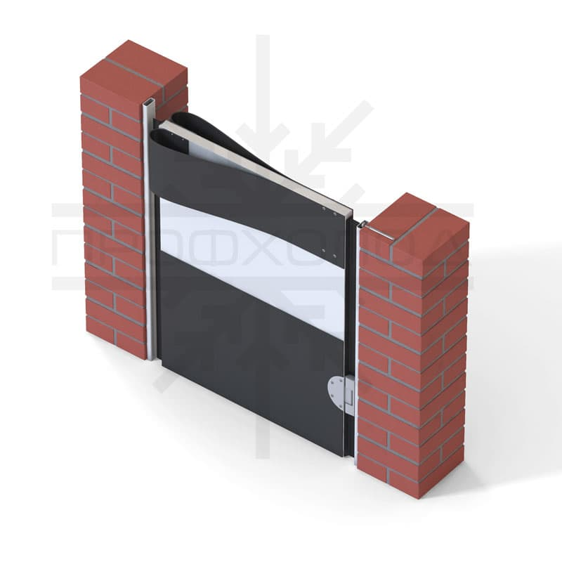 Маятниковая дверь крепление на кирпичную стену