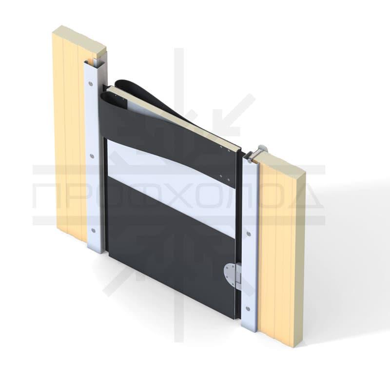 Маятниковая дверь крепление на сэндвич-панель