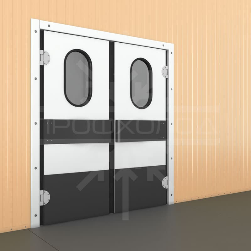 Маятниковая двухстворчатая дверь