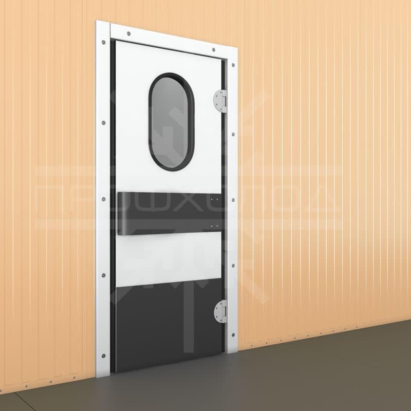 Маятниковая одностворчатая дверь